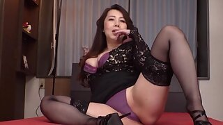 Partake of Japanese adult is brim about to take down her right arm for In men's drawers