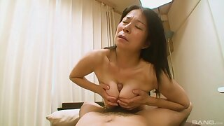 Soft Japanese grandma Akiko Oda infliction her back having sex